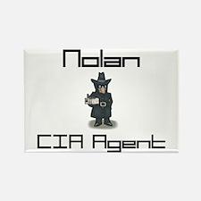 Nolan - CIA Agent Rectangle Magnet