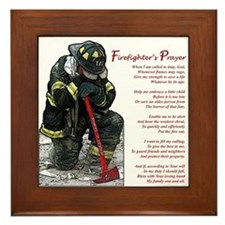 Firefighter Prayer Framed Tile