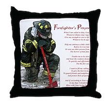 Firefighter Prayer Throw Pillow