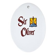 Sir Oliver Oval Ornament
