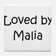 Cute Malia Tile Coaster