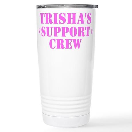 Trishs Support Crew Stainless Steel Travel Mug