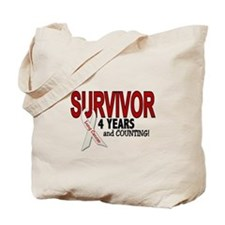 Lung Cancer Survivor 4 Years 1 Tote Bag