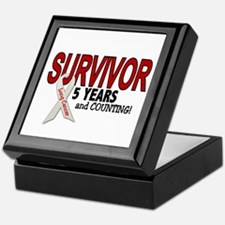 Lung Cancer Survivor 5 Years 1 Keepsake Box