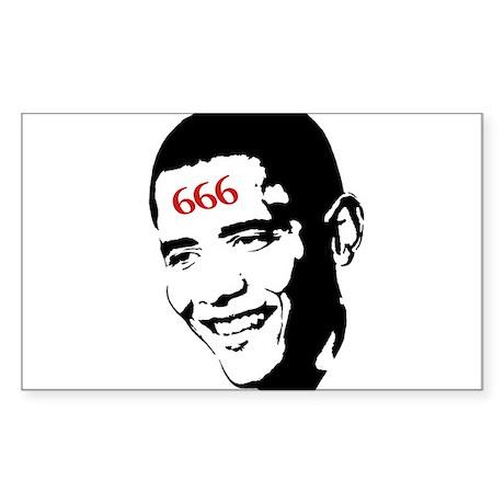 Mark of Barack Rectangle Sticker