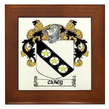 Carey Coat of Arms Framed Tile