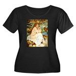 Bath Women's Plus Size Scoop Neck Dark T-Shirt