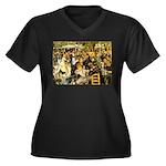 Moulin Women's Plus Size V-Neck Dark T-Shirt