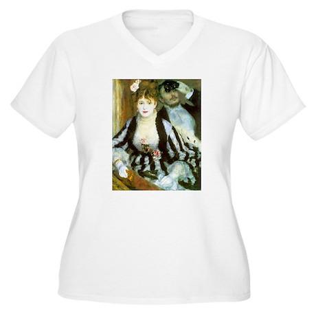 La Loge Women's Plus Size V-Neck T-Shirt