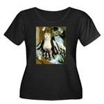 La Loge Women's Plus Size Scoop Neck Dark T-Shirt