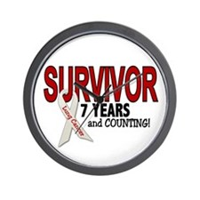 Lung Cancer Survivor 7 Years 1 Wall Clock