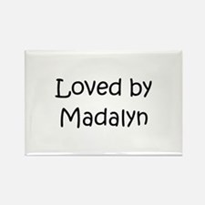 Cute Madalyn Rectangle Magnet