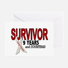 Lung Cancer Survivor 9 Years 1 Greeting Card