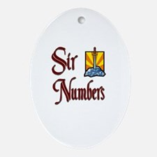 Sir Numbers Oval Ornament