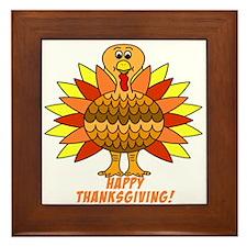 Thanksgiving Turkey Framed Tile