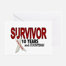 Lung Cancer Survivor 10 Years 1 Greeting Card
