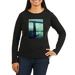 Nocturne in Blue Women's Long Sleeve Dark T-Shirt