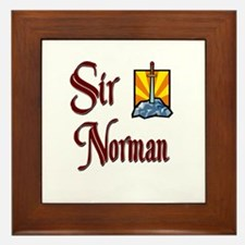 Sir Norman Framed Tile