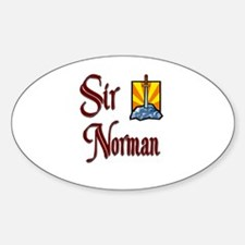 Sir Norman Oval Decal