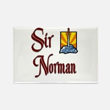 Sir Norman Rectangle Magnet