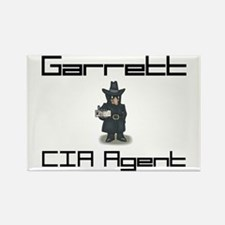 Garrett - CIA Agent Rectangle Magnet