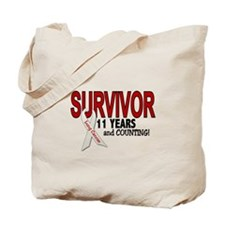 Lung Cancer Survivor 11 Years 1 Tote Bag