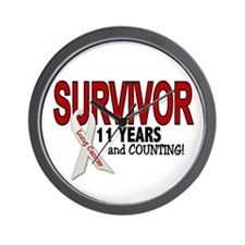 Lung Cancer Survivor 11 Years 1 Wall Clock