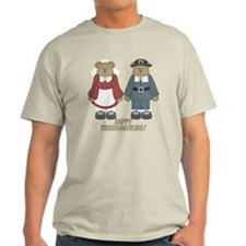 Thanksgiving Pilgrim Bears T-Shirt