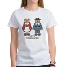 Thanksgiving Pilgrim Bears Tee
