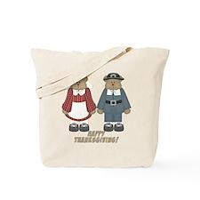 Thanksgiving Pilgrim Bears Tote Bag