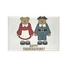 Thanksgiving Pilgrim Bears Rectangle Magnet