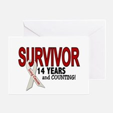 Lung Cancer Survivor 14 Years 1 Greeting Card