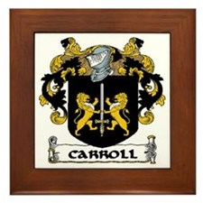 Carroll Coat of Arms Framed Tile
