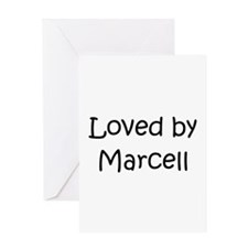Unique Marcel Greeting Card