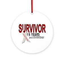 Lung Cancer Survivor 15 Years 1 Ornament (Round)
