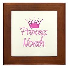 Princess Norah Framed Tile