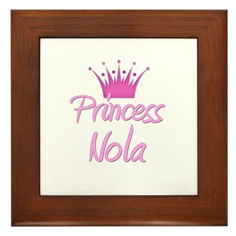 Princess Nola Framed Tile