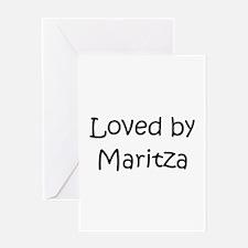 Cool Maritza Greeting Card