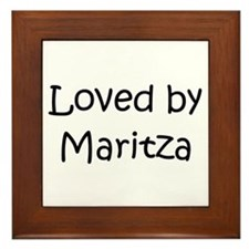 Cute Maritza Framed Tile