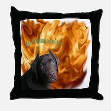 Devil Made Me Do It! Throw Pillow