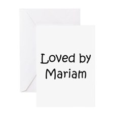Cute Mariam Greeting Card