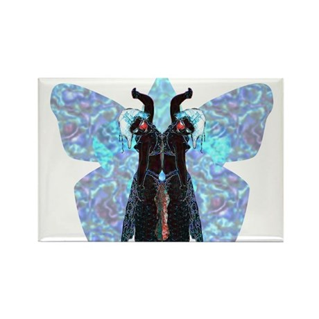 black and blue butterfly Rectangle Magnet