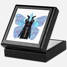 black and blue butterfly Keepsake Box