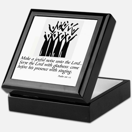 Cute A joyful noise Keepsake Box