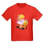 Little Girl Toy Horse Kids Dark T-Shirt