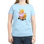 Little Girl Toy Horse Women's Light T-Shirt