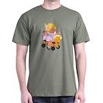 Little Girl Toy Horse Dark T-Shirt
