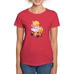 Little Girl Toy Horse Women's Dark T-Shirt