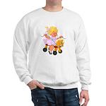 Little Girl Toy Horse Sweatshirt