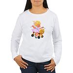Little Girl Toy Horse Women's Long Sleeve T-Shirt